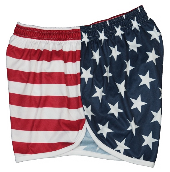 NEW Soffe Ranger Panty Silkies PT Shorts Military American Flag Red White /& Blue